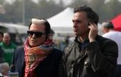 Cristiano Malgioglio (sx) e Roberto Parodi (dx), in Autodromo per la trasmissione televisiva